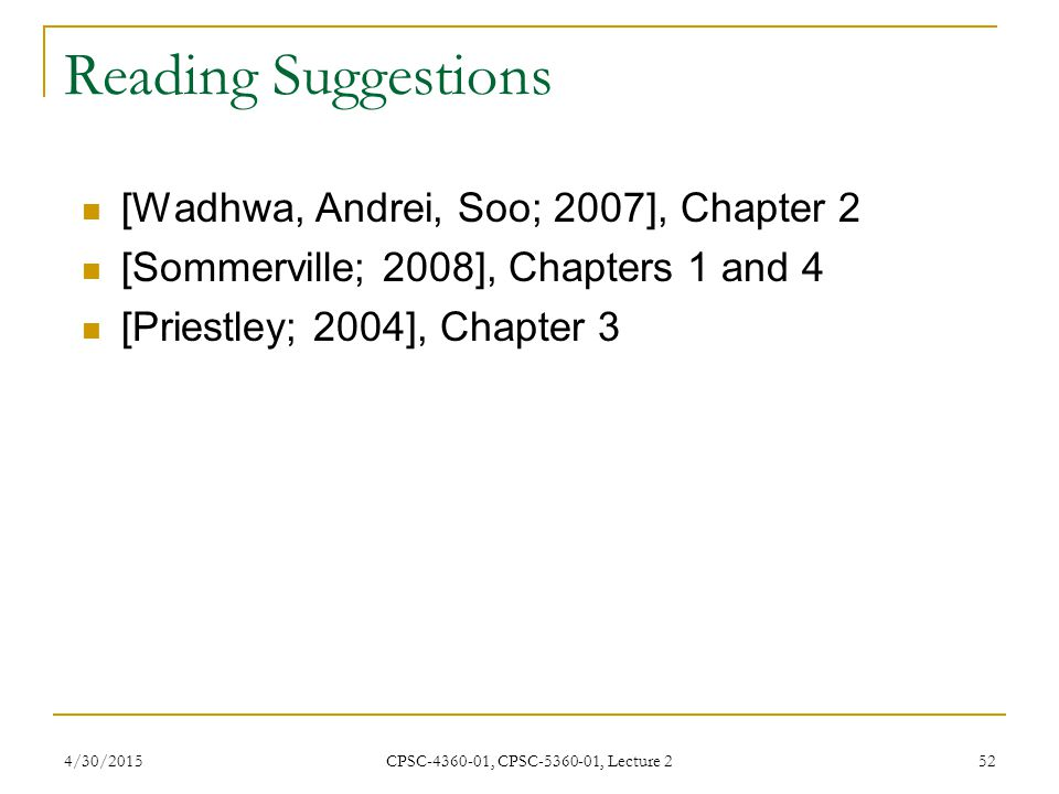 Reading Suggestions [Wadhwa, Andrei, Soo; 2007], Chapter 2